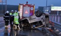 TİCARİ ARAÇ - Tekirdağ'da Hafif Ticari Araç Takla Attı Açıklaması 6 Yaralı