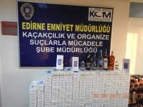 TRAKYA ÜNIVERSITESI - Edirne'de Kaçak Sigara Ve İçki Operasyonu