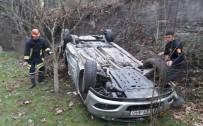 TRAFİK MÜDÜRLÜĞÜ - Otomobil Takla Attı Açıklaması 2 Yaralı