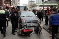 ELEKTRİKLİ BİSİKLET - Samsun'da Otomobil İle Elektrikli Bisiklet Çarpıştı Açıklaması 1 Yaralı
