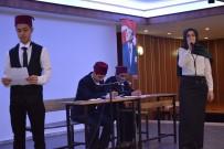 Sarayköy'de Öğrenciler Ve Öğretmenler İstiklal Marşı İçin Bir Araya Geldi