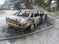GÖKOVA - Arazöz Şoförünün Aracı Cayır Cayır Yandı