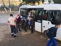 CAN GÜVENLİĞİ - Bodrum'da Jandarma Ekipleri Okul Taşıtlarını Denetlendi