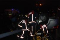KANUNİ SULTAN SÜLEYMAN - E-5 Karayolunda Takla Atan Otomobilin Sürücüsü Feci Şekilde Hayatını Kaybetti