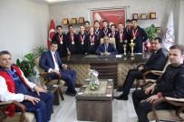 BASKETBOL TAKIMI - GKV'nin Şampiyon Ekipi Mehmet Yağcı'yı Ziyaret Etti