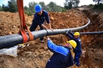 Milas'ta 3 Mahalleye 5 Bin 500 Metrelik İçme Suyu Hattı