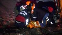 BARAJ GÖLETİ - Tuzlama Aracıyla Et Yüklü Kamyon Çarpıştı Açıklaması 1 Ölü, 2 Yaralı