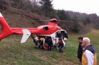 AMBULANS HELİKOPTER - Ağaçtan Düşüp Yamaçtan Yuvarlanan Yaşlı Adamın Yardımına Helikopter Yetişti