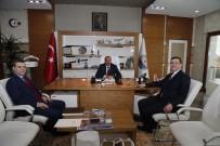 AHMET YESEVI - Ahmet Yesevi Üniversitesi Mütevelli Heyet Başkanı Yıldız'dan Başkan Duruay'a Ziyaret