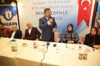 SAĞLıK VE SOSYAL HIZMET ÇALıŞANLARı SENDIKASı - Başkan Karabacak, Sağlık Çalışanlarını Yemekte Ağırladı