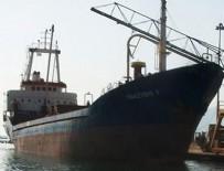 KURU YÜK GEMİSİ - Libya'da Türk gemisi battı