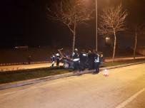 KALICI KONUTLAR - Ağaca Çarpan Araç Otomobil İkiye Bölündü Açıklaması 3 Yaralı