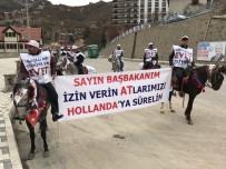 ZIGANA - Başbakan Binali Yıldırım'a Gümüşhane'de Atlı Karşılama