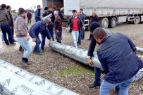 YENIKÖY - Batman'da Çiftçilere Sera Naylonu Dağıtıldı