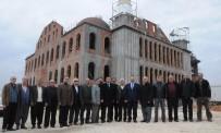 CAMİİ - Kaymakam Pamuk, Koyuncu Yeni Merkez Cami İnşaatını İnceledi