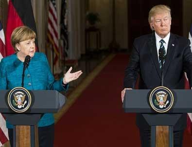 Trump'tan Merkel'e Obama göndermesi