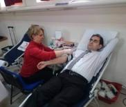 AKıN AĞCA - Çifteler Kaymakamı Ağca'dan Kan Bağışı Kampanyasına Destek