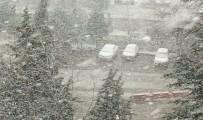 KAZMA KÜREK - Elazığ'a Lapa Lapa Kar Yağdı