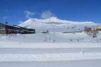 ERCIYES - Erciyes'te Pistlere 50 Santimetre Kar Düştü
