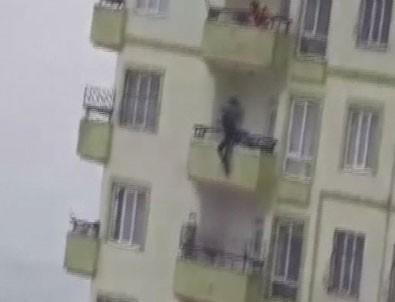 Gaziantep'te 17 yaşındaki kızın intiharı kamerada