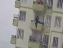 İNTIHAR - Gaziantep'te 17 yaşındaki kızın intiharı kamerada