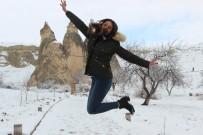 Kapadokya'da Mart Ayında Kış Güzelliği Yaşanıyor
