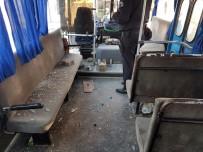 TEKMEN - Otobüsler Tahrip Edildi Açıklaması Kafasına Taş İsabet Eden Kaleci Yaralandı