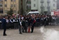 Sungurlu'daki Yangın Tatbikatı Gerçeği Aratmadı