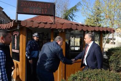 Edirne Valisi Özdemir'den Taksi Esnafına Ziyaret