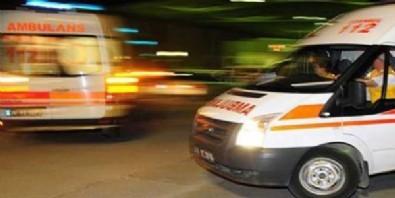 Yolcu otobüsüyle taksi çarpıştı: 1 ölü