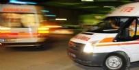 YOLCU OTOBÜSÜ - Yolcu otobüsüyle taksi çarpıştı: 1 ölü