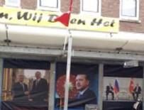 HOLLANDA - Hollanda'da Erdoğan posterine operasyon