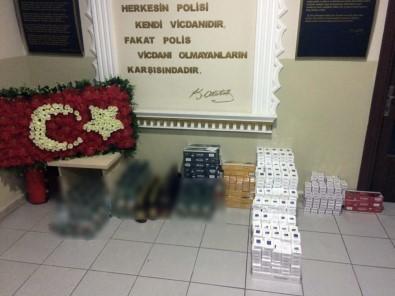 Rize'de Kaçak Sigara Ve İçki Operasyonu