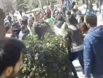 İLETİŞİM FAKÜLTESİ - 'Öcalan'a İdam' pankartı asan öğrencilere saldırı