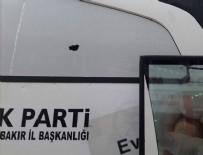 Diyarbakır'da AK Parti otobüsüne taşlı saldırı
