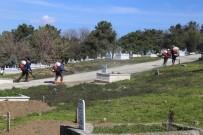 KARAAĞAÇ - Edirne'de Mezarlıklar İlaçlanıyor