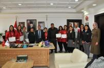 GÜMÜŞ MADALYA - Gümüş Madalya Kazanan Ekipten Başkan Akkaya'ya Ziyaret