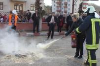 AHMET YESEVI - Öğretmenlere Yangın Söndürme Ve Kurtarma Tatbikatı Yaptırıldı