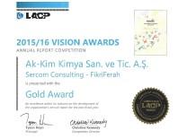 KIMYA - Ak-Kim Kimya'nın Sürdürülebilirlik Raporuna Uluslararası Ödül
