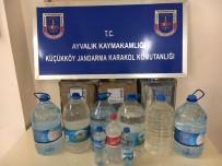 SAHTE RAKı - Ayvalık'ta Jandarmadan Sahte İçki Operasyonu