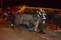 Kula'da Trafik Kazası Açıklaması 1 Yaralı