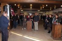 RESIM SERGISI - Kuşadasında Mühür Baskı Kolaj Resim Sergisi Açıldı
