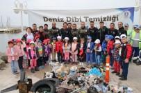 TURGUTREIS - Dalgıçlar Deniz Altını, Çocuklar Plajı Temizledi