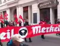 PROTESTO - Merkel'e Nazi şoku