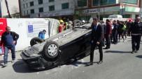 HAMIDIYE - Aşırı Hız Yapan Sürücü Takla Attı Yol Kenarında Yürüyen Yayaya Çarptı
