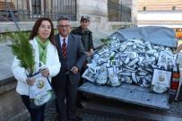 SELIMIYE CAMII - Edirne'de Halka Ücretsiz 3 Bin Fidan Dağıtıldı