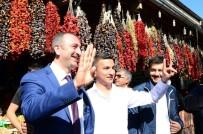 AK Partili Gül Ve Özkeçeci'ye Esnaftan Bozkurtlu Karşılama