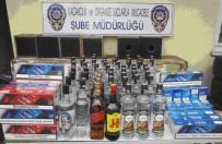 Kamyonetin Gizli Bölmelerinde Kaçak Sigara Yakalandı
