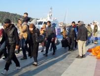 SURİYE - Çeşme'de 67 Göçmen Botları Batmak Üzereyken Kurtarıldı