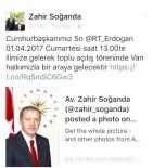 Erdoğan Ve Yıldırım 1 Nisan'da Van'a Geliyor